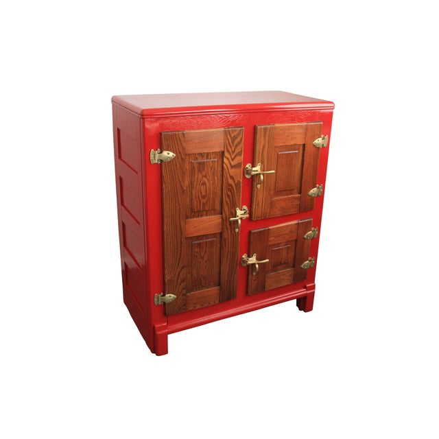 1950s' Retro Red Ice Box - Image 1 of 6