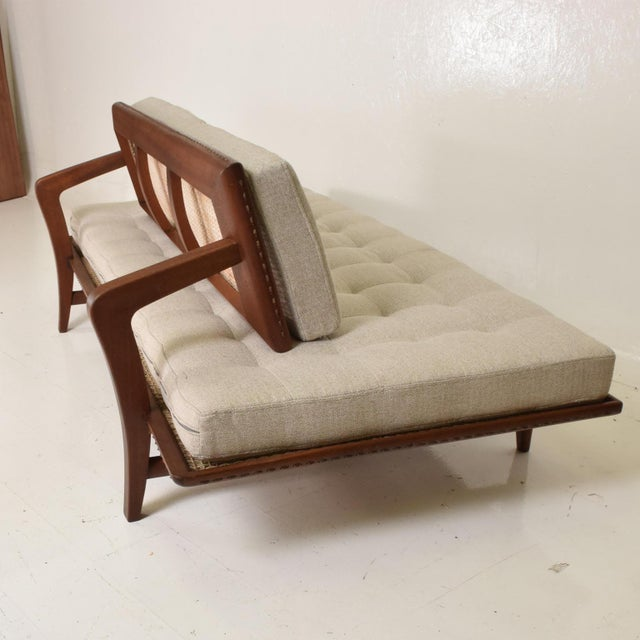 Mexican Modernist Chaise Lounge Daybed by Charles Allen, Regil De Yucatian For Sale - Image 4 of 8