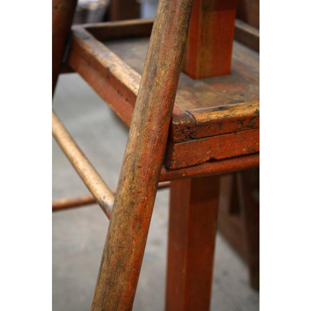 Display artwork atop this 19th century wood worker's stand. Originally used for chair making as a vice, it can now be a...