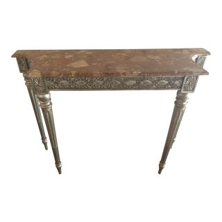 1950s Art Deco Carved and Painted Console Table For Sale