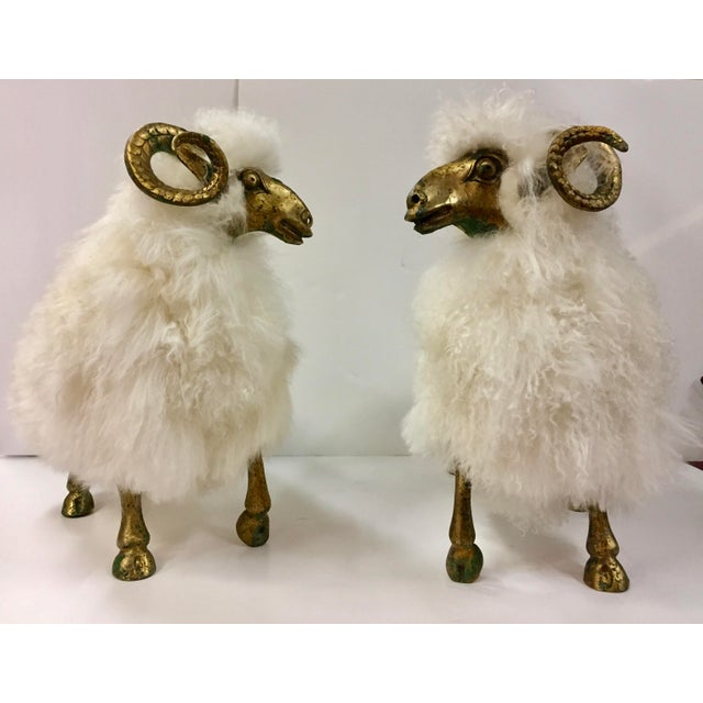 1990s Lalanne Style Solid Etched Bronze and Wool Ram Sculpture For Sale - Image 11 of 13
