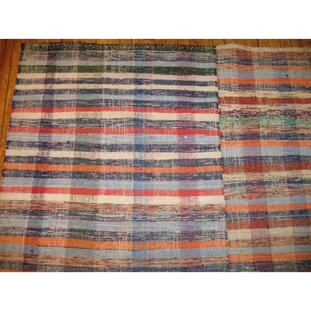 Vintage Turkish Rag Rug- 6'4'' x 10'3'' - Image 2 of 3