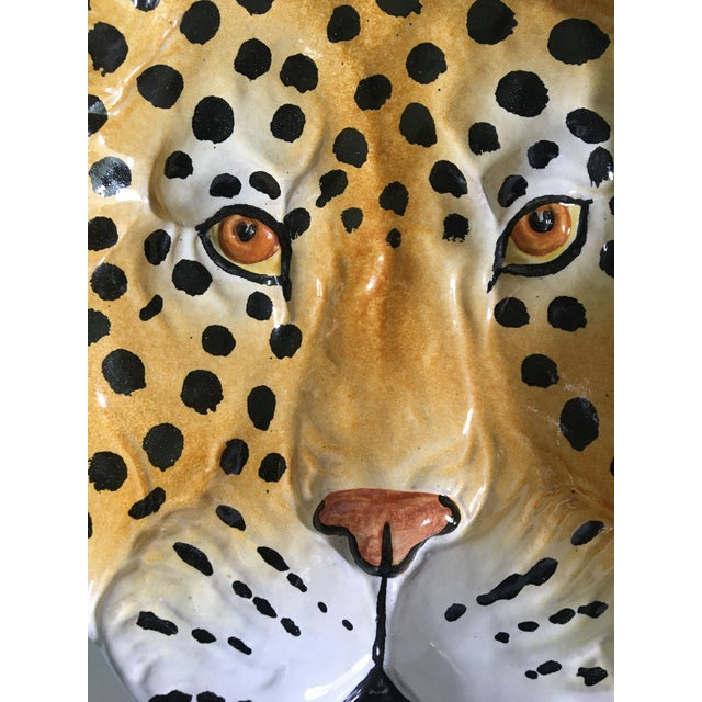 Modern Italian Mid-Century Hollywood Regency Handcrafted Pottery Spotted Leopard Dish/Catchall For Sale - Image 3 of 13