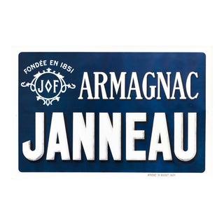 1900s French Vintage Armagnac Janneau Poster For Sale