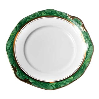 Malachite Handpainted Cake Plate
