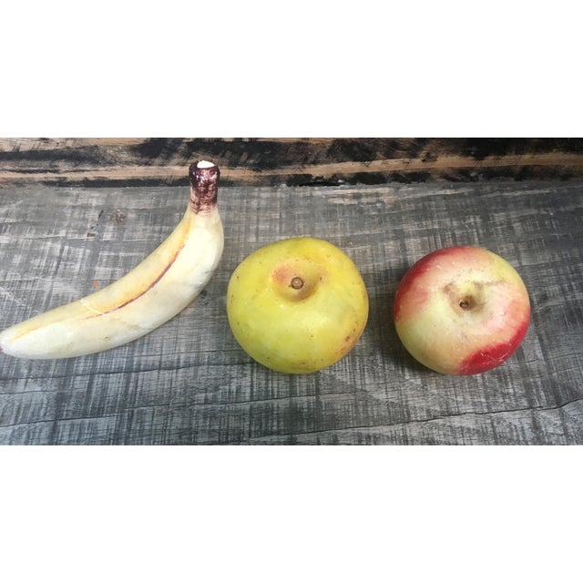 Vintage Italian Alabaster Fruit - Set of 3 - Image 3 of 5
