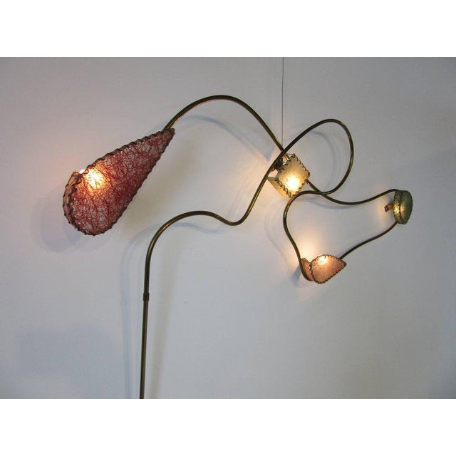 Rare Brass Sculptural Wall Light by Majestic For Sale - Image 9 of 9