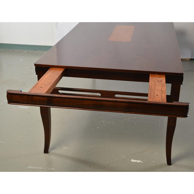 2010s Bespoke Art Deco Style Walnut Extending Dining Table For Sale - Image 5 of 12