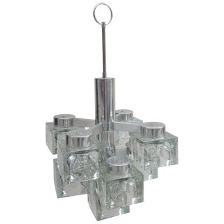 Gaetano Scolari Lightolier Ice Cube Chandelier For Sale