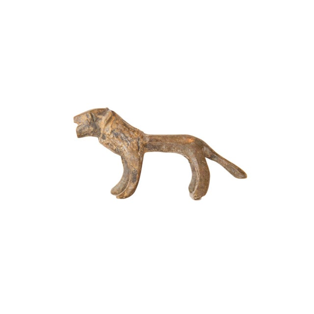 Vintage African Mini Bronze Lion For Sale In New York - Image 6 of 6
