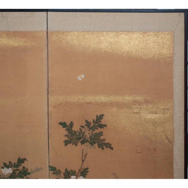 1880's Vintage Japanese Yamato-E Byobu Screen For Sale - Image 9 of 13