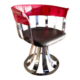 Polished Aluminum Armchair by Russell Woodard