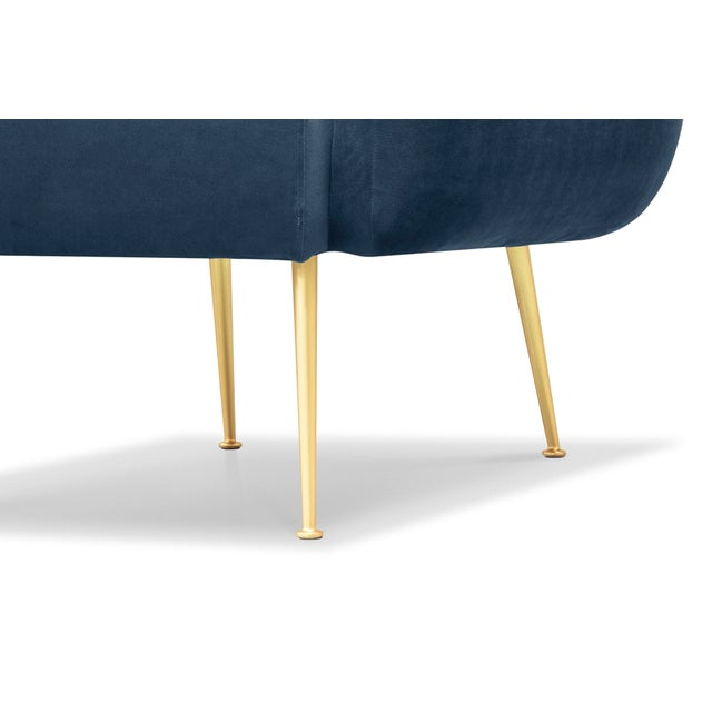 2010s Channeled Side Chair in Dust Blue For Sale - Image 5 of 6