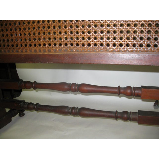 19th Century Gothic Revival Walnut Swinging Cradle For Sale - Image 12 of 13