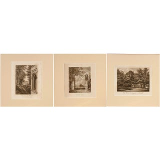 Strawberry Hill Engraving - Set of 3 For Sale