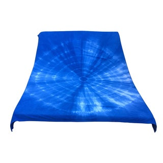 Indigo Shibori Cotton Blanket For Sale