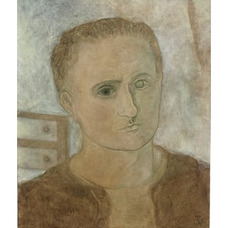 1964 Self Portrait Modern Painting by James Bone For Sale