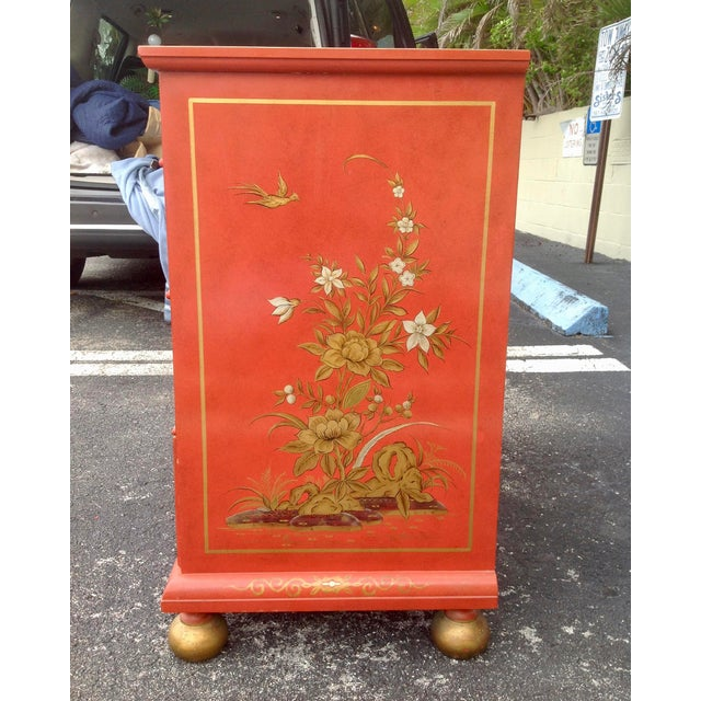 Red Chinoiserie Chest by Baker For Sale - Image 8 of 13