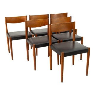 Poul Volther for Frem Rojle Danish Mid Century Teak Dining Chairs - Set of 6 For Sale