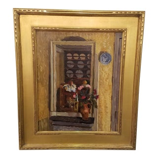 Antique 1900s French Paris School Interior Scene Oil Painting on Canvas For Sale