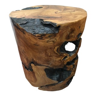 Natural Solid Teak Root Side Table