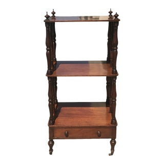 19th C. Mahogany Etagere For Sale
