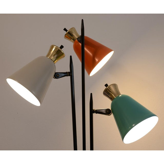 Mid-Century Modern Enamel Table Lamp For Sale - Image 9 of 10