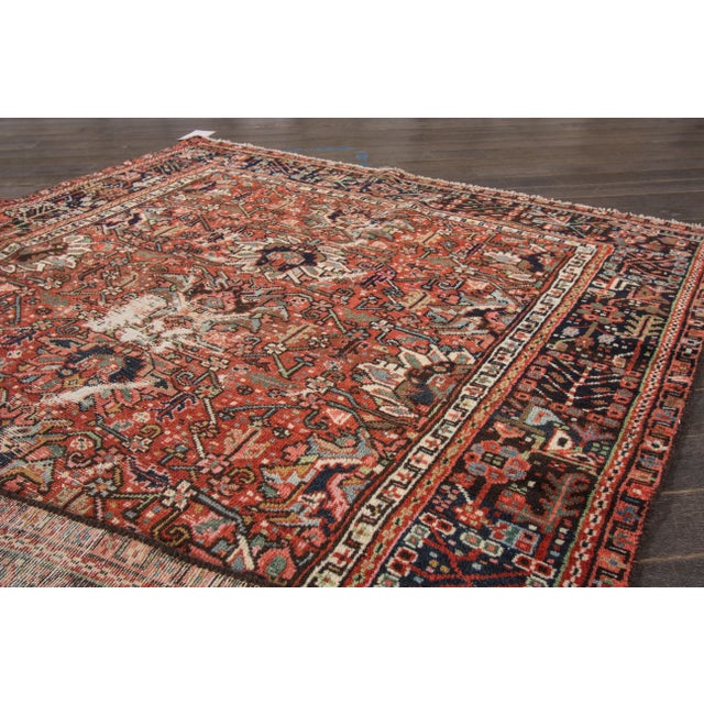 "Apadana Antique Persian Heriz Rug - 4'10"" X 6' For Sale In New York - Image 6 of 7"