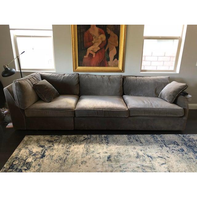 Arhaus Contemporary Greige Sofa Chairish
