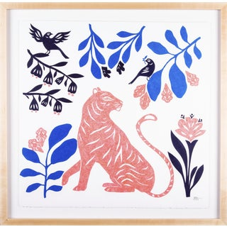 Stacey Elaine Tiger in a Blue Forest Collage For Sale