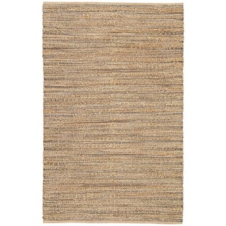 Jaipur Living Canterbury Natural Solid Tan/ Black Area Rug - 3′6″ × 5′6″ For Sale