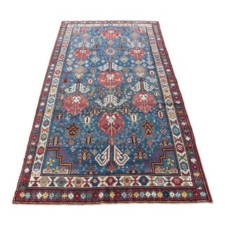 Late 19th Century Antique Shirvan Rug - 5′2″ × 10′3″ For Sale