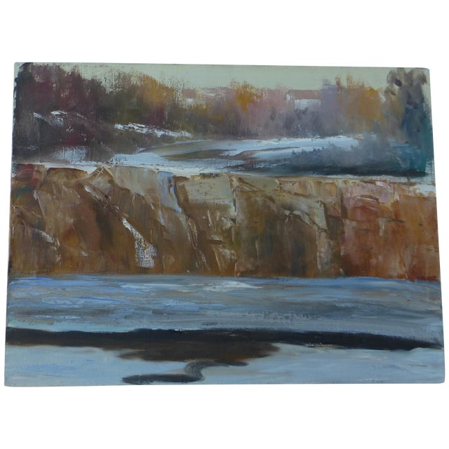 Abstract Waterfall Painting by H.L. Musgrave - Image 1 of 7