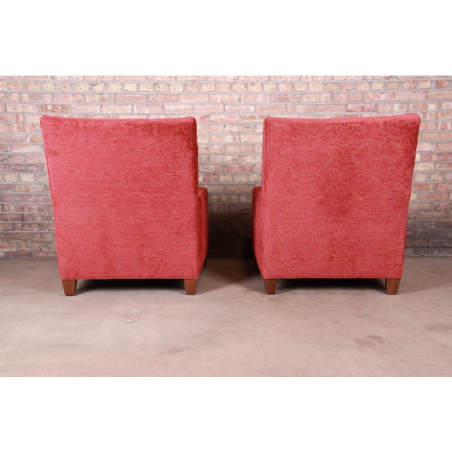 Red Baker Furniture Contemporary Oversized Down-Filled Lounge Chairs and Ottoman For Sale - Image 8 of 13