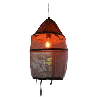 French Beekeeper's Hat Pendant Light For Sale