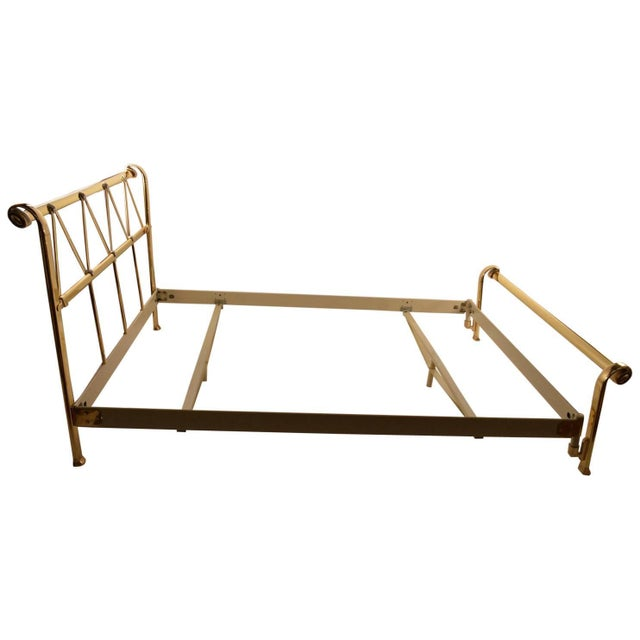 Full Size Brass Bed by Mauro Lipparini Made in Italy For Sale - Image 11 of 11