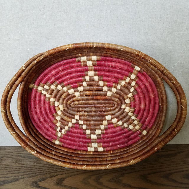 Vintage African Coiled Basket Tray For Sale In Dallas - Image 6 of 6