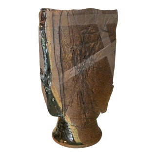 Studio Pottery Tall Vase For Sale