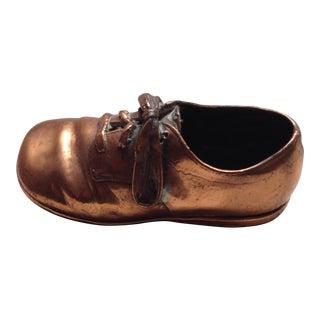 Copper Baby Shoe Figure For Sale