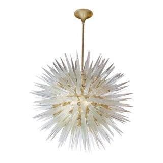 Venetian Murano Glass Round Star Pendant For Sale