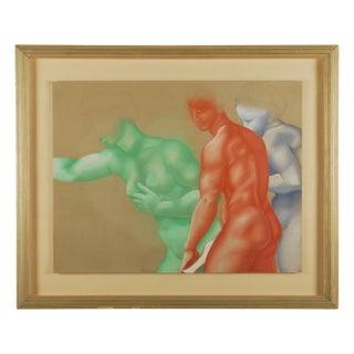 Figure Study Original Pastel Drawing For Sale