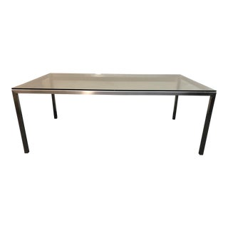 "Contemporary Room & Board ""Portica"" Rectangular Steel Table"