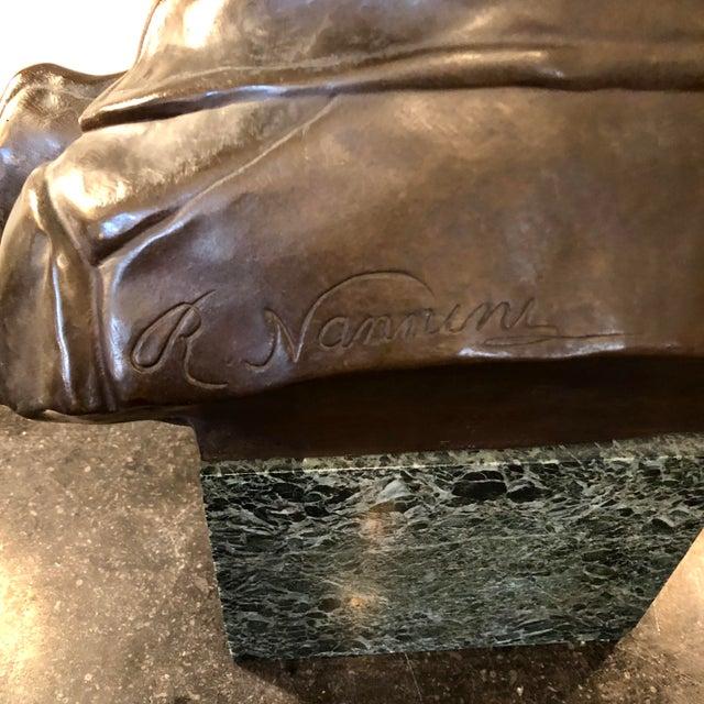 Gold Late 19th Century Antique Rafael Nannini Bronze Bust of Napoleon I Sculpture For Sale - Image 8 of 10