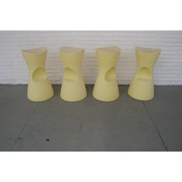 Yellow Skoop Stools by Karim Rashid - Set of 4 For Sale - Image 9 of 11