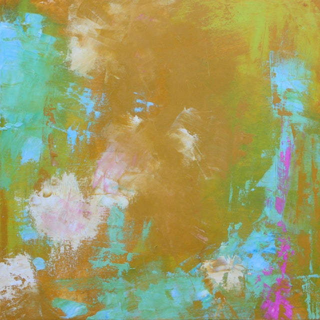 "Original Abstract ""Spring Colors"" Oil on Board Painting by Paul Ashby - Image 3 of 3"
