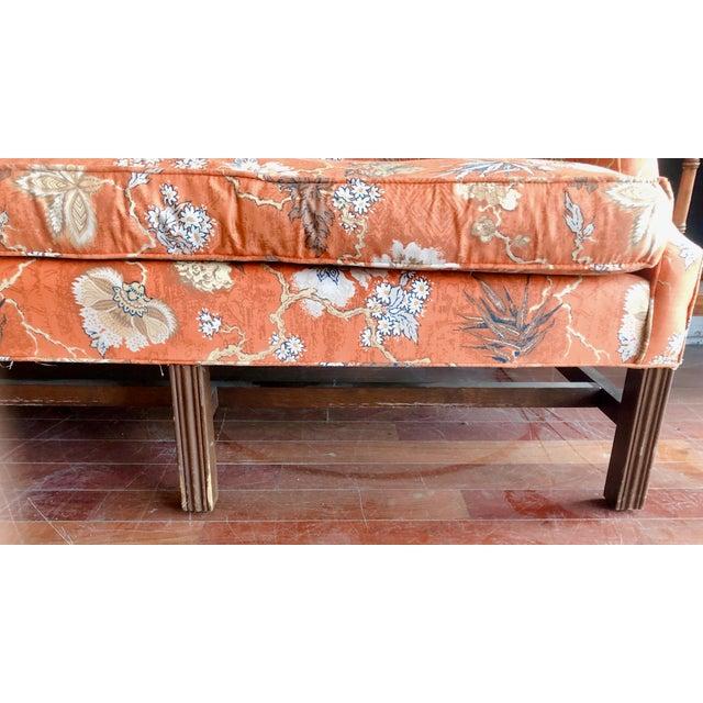 Vintage Baker Camelback Sofa For Sale In Chicago - Image 6 of 12