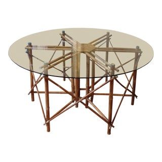 Vintage Rattan Table For Sale