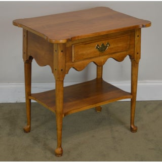Ethan Allen Circa 1776 Collection One Drawer Maple Side Table or Nightstand Preview