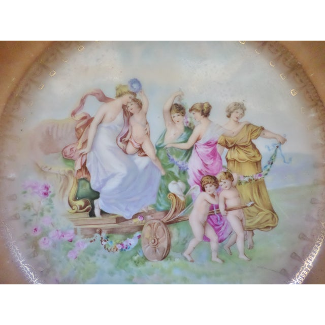 """Neoclassical Antique Artist Signed Angeliha Kaufmann 10"""" Portrait Plate of Venus For Sale - Image 3 of 7"""