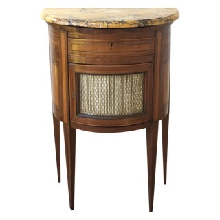 19th Century French Inlaid Marble Top Cabinet For Sale